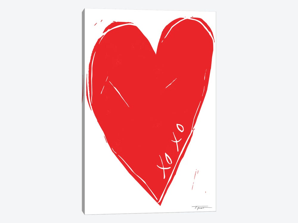 XOXO Heart 1-piece Canvas Artwork