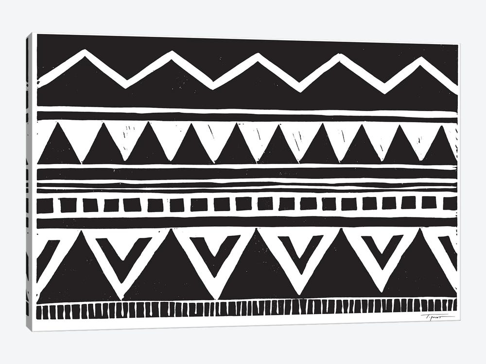 Zig Zag Above Tribal Triangles by Statement Goods 1-piece Art Print
