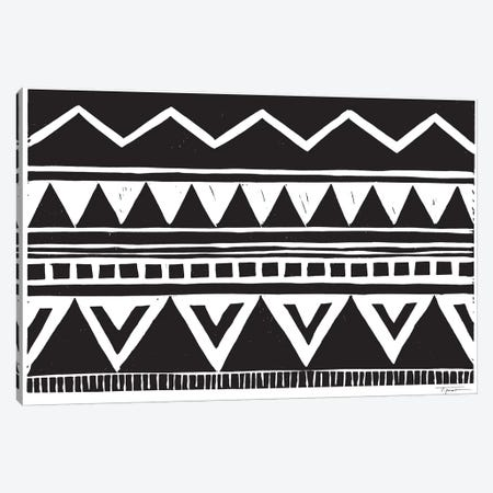 Zig Zag Above Tribal Triangles Canvas Print #SGD84} by Statement Goods Art Print