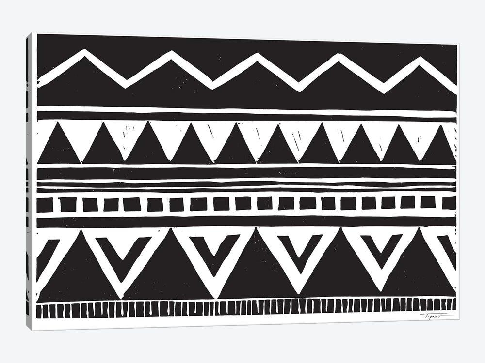 Zig Zag Above Tribal Triangles by Statement Goods 1-piece Art Print