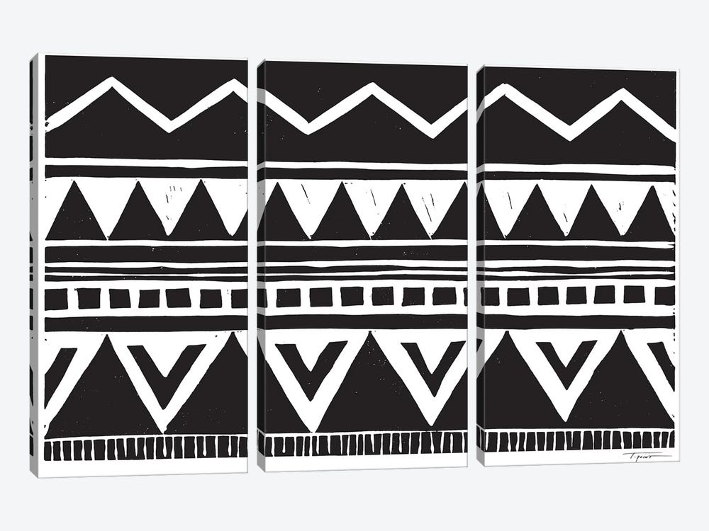 Zig Zag Above Tribal Triangles by Statement Goods 3-piece Canvas Print