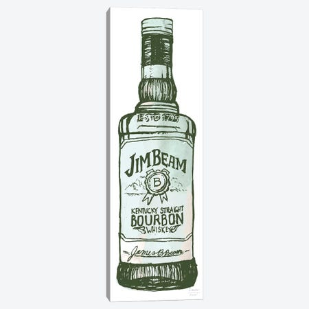 Jim Beam Whiskey Canvas Print #SGD85} by Statement Goods Art Print