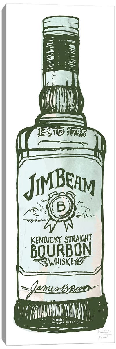 Jim Beam Whiskey Canvas Art Print