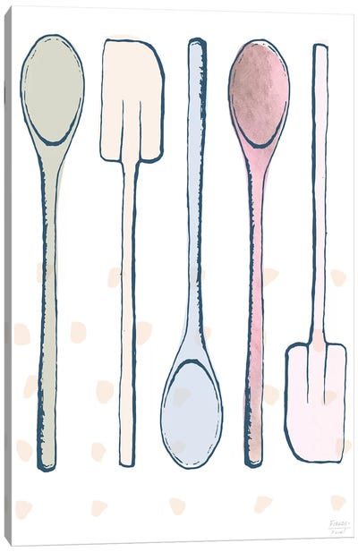 Kitchen Spoons And Spatulas Canvas Art Print