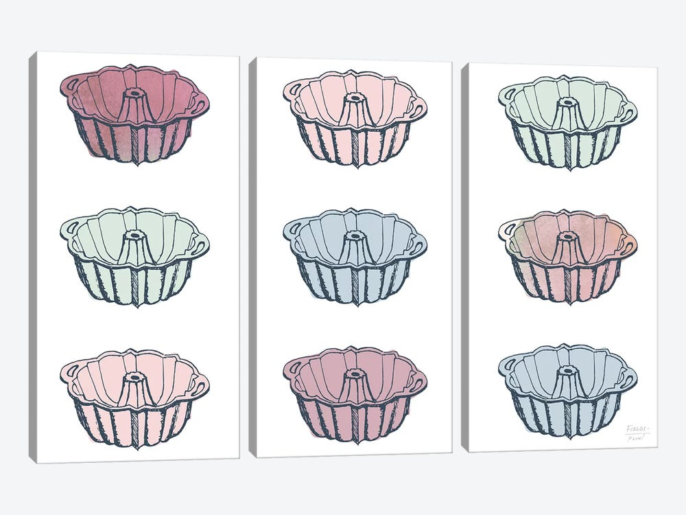 Bundt Cake Pans by Statement Goods 3-piece Art Print