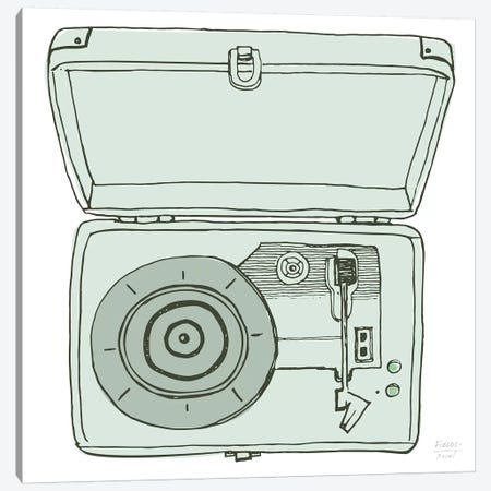 Vintage Record Player Canvas Print #SGD89} by Statement Goods Canvas Artwork