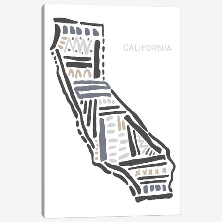 California Canvas Print #SGD8} by Statement Goods Art Print