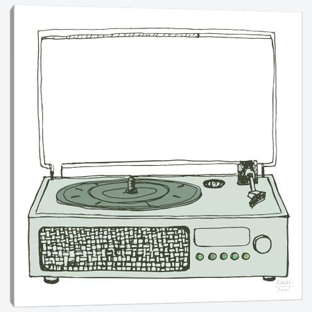 Victrola Record Player Canvas Print #SGD90} by Statement Goods Canvas Print