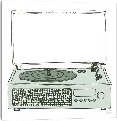 Victrola Record Player Canvas Art Print