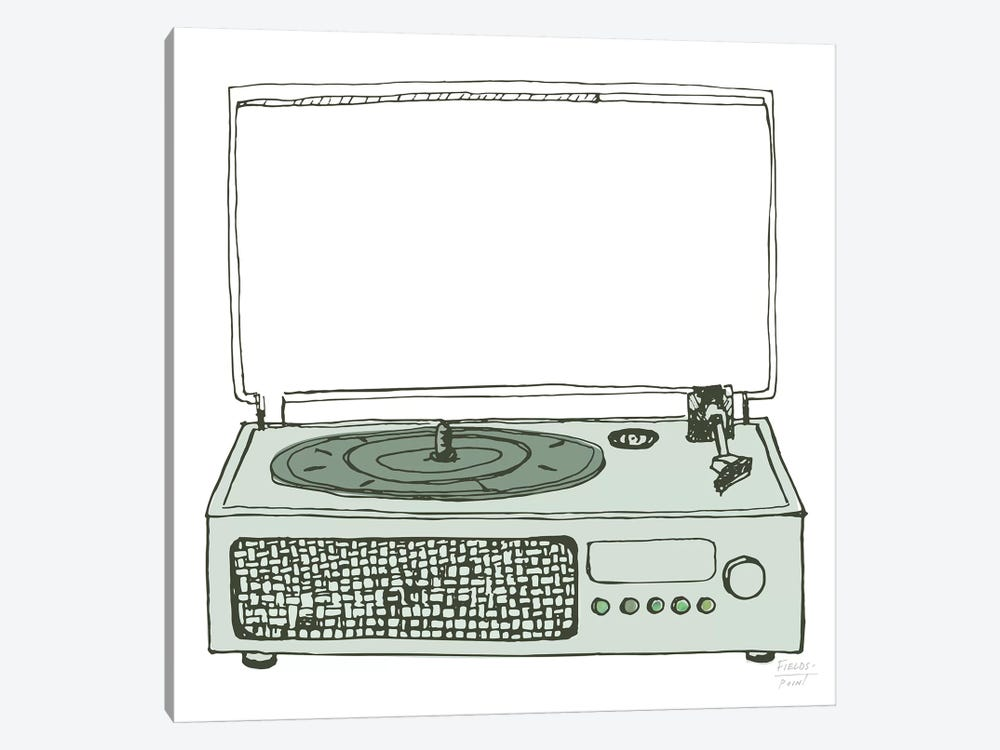 Victrola Record Player by Statement Goods 1-piece Canvas Wall Art