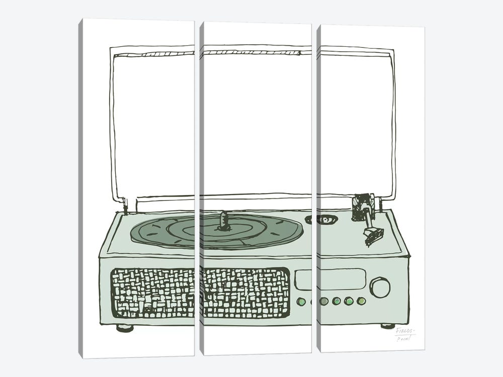 Victrola Record Player by Statement Goods 3-piece Canvas Art