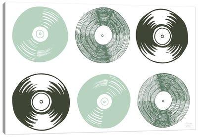 Six Vinyl Records Canvas Art Print