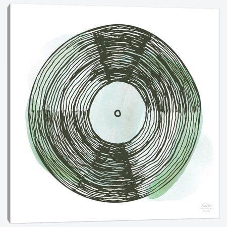 Old School Vinyl Record Canvas Print #SGD92} by Statement Goods Canvas Print