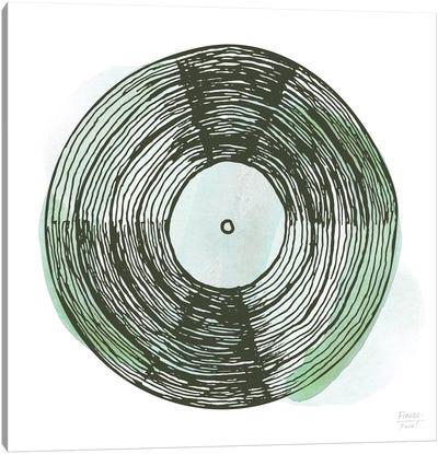 Old School Vinyl Record Canvas Art Print