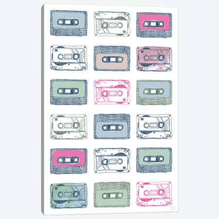Cassettes Canvas Print #SGD95} by Statement Goods Canvas Artwork