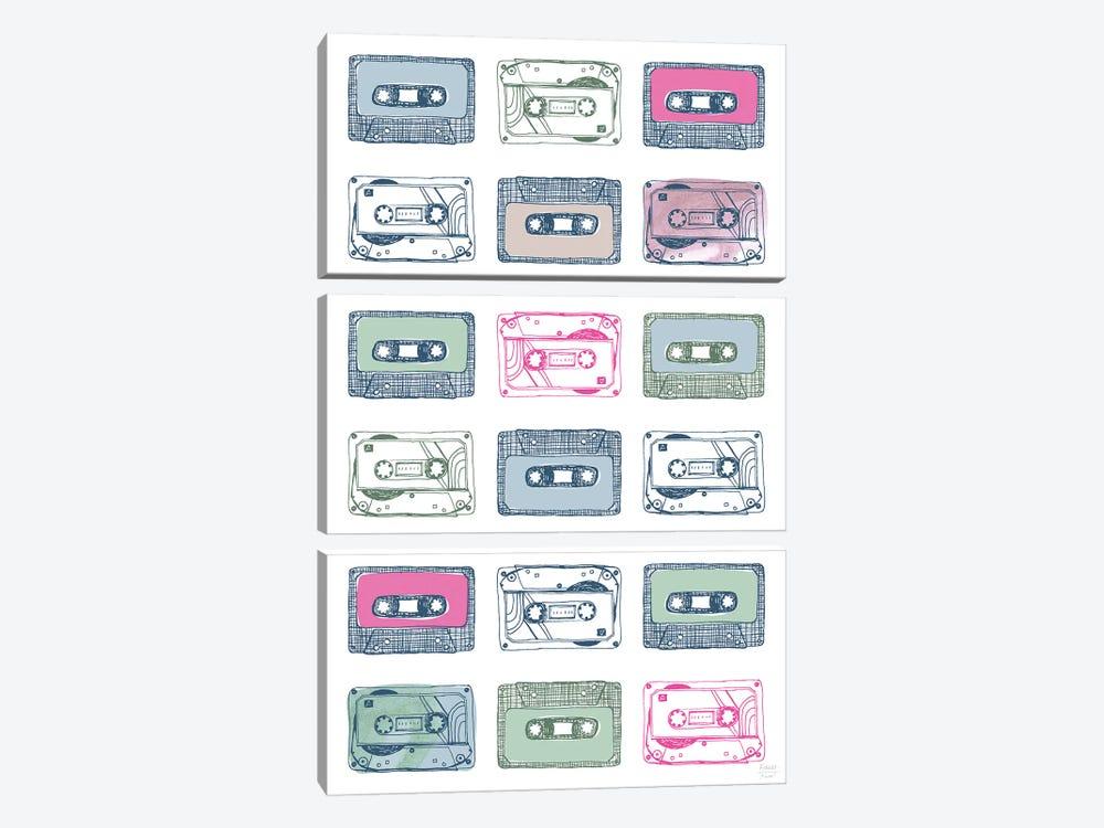 Cassettes by Statement Goods 3-piece Canvas Print