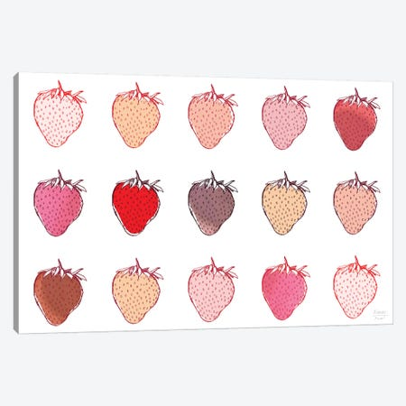 Strawberries 3-Piece Canvas #SGD96} by Statement Goods Canvas Artwork