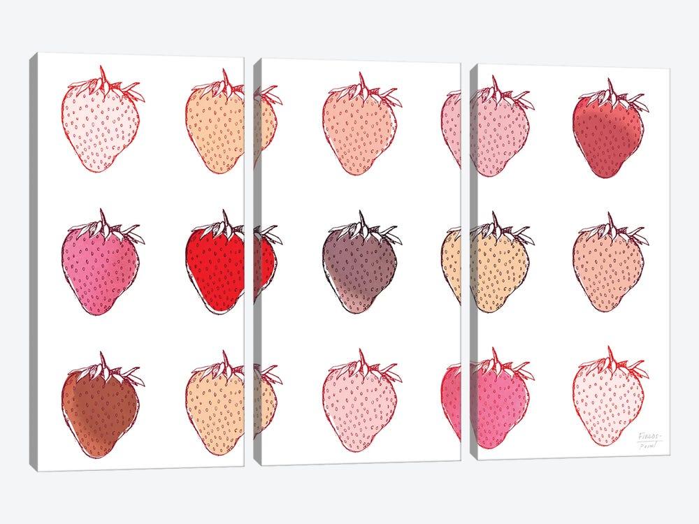 Strawberries by Statement Goods 3-piece Canvas Artwork