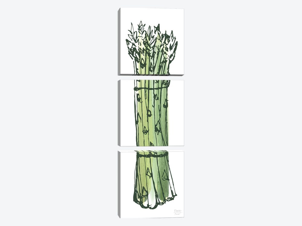 Asparagus Bundle by Statement Goods 3-piece Canvas Art Print