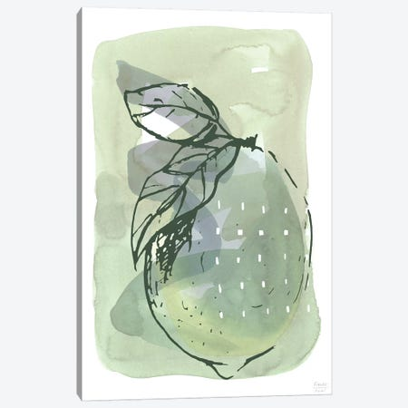 Lemon With Dots Canvas Print #SGD98} by Statement Goods Canvas Art Print
