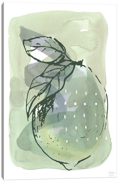 Lemon With Dots Canvas Art Print