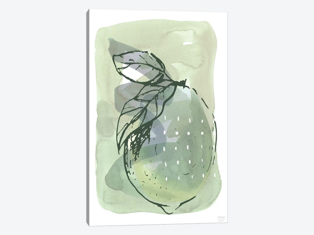 Lemon With Dots by Statement Goods 1-piece Canvas Wall Art