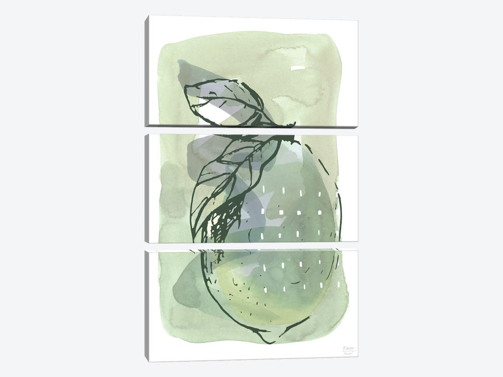 Lemon With Dots by Statement Goods 3-piece Canvas Artwork