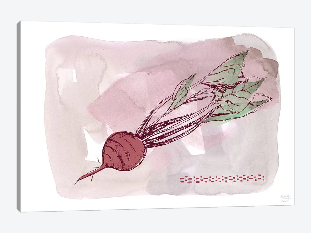 Beet by Statement Goods 1-piece Canvas Print