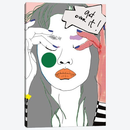 Get Over It Canvas Print #SGE12} by Ana Sneeringer Canvas Artwork
