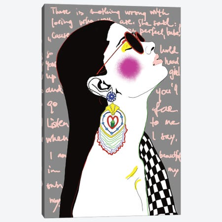 Beautiful In My Own Way Canvas Print #SGE3} by Ana Sneeringer Canvas Wall Art