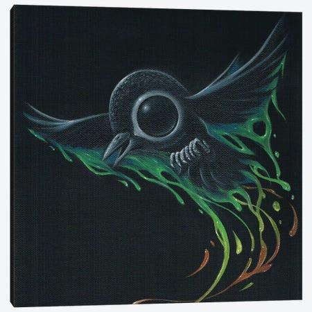Black As Pitch Canvas Print #SGF11} by Sugar Fueled Art Print