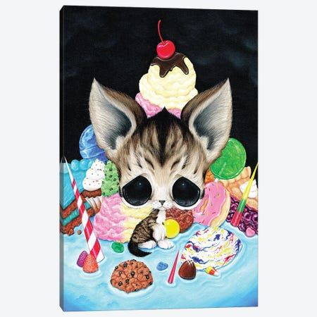 The Collector Canvas Print #SGF138} by Sugar Fueled Canvas Artwork