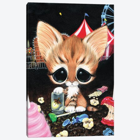 The Escape Artist Canvas Print #SGF139} by Sugar Fueled Canvas Art