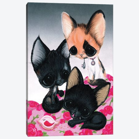 Cous Cous, Mipsy, And Chibi Canvas Print #SGF23} by Sugar Fueled Canvas Artwork