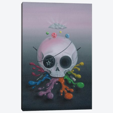 Dead Men Tell Tall Tales Canvas Print #SGF30} by Sugar Fueled Art Print