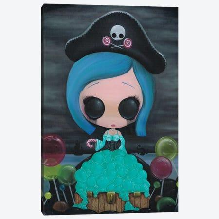Lollipirate Canvas Print #SGF83} by Sugar Fueled Canvas Art