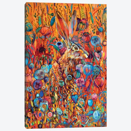 Poppyseed Hare Canvas Print #SGN13} by Sue Gardner Art Print