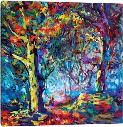 Hilltop Walk Canvas Art Print