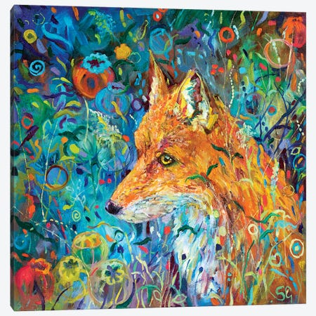 Poppyseed Fox Canvas Print #SGN17} by Sue Gardner Canvas Artwork