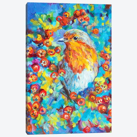Hawthorn Robin Canvas Print #SGN19} by Sue Gardner Art Print