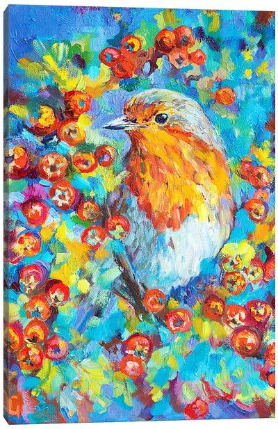 Hawthorn Robin Canvas Art Print