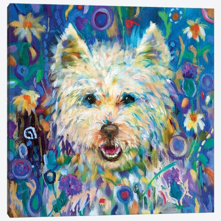 Westie Canvas Print #SGN28} by Sue Gardner Canvas Artwork