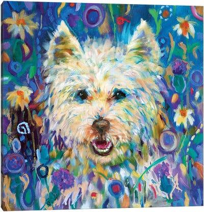 Westie Canvas Art Print