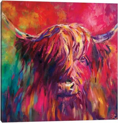 Rainbow Cow Canvas Art Print
