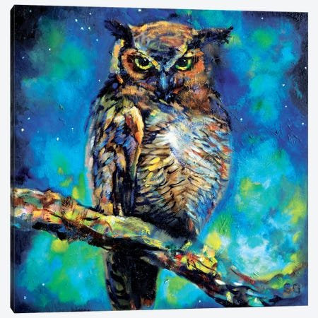 Great Horned Owl Canvas Print #SGN30} by Sue Gardner Canvas Print