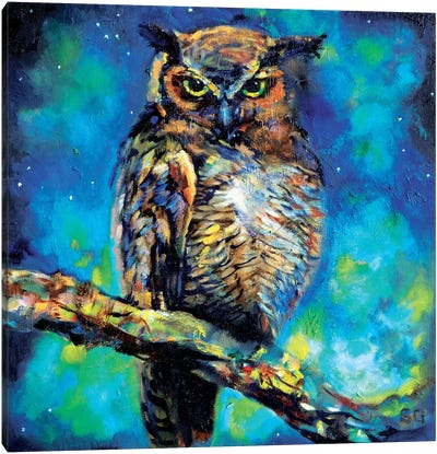 Great Horned Owl Canvas Art Print