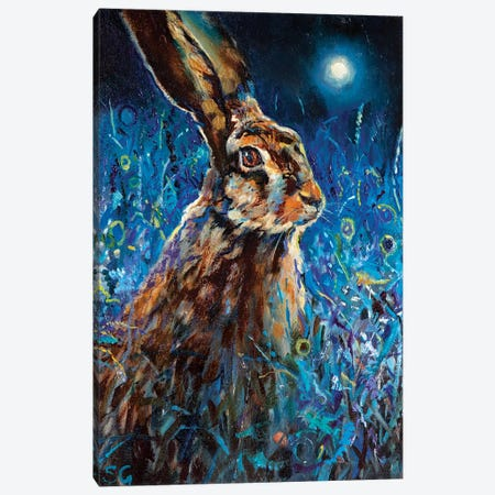 Moonlight Glance Canvas Print #SGN39} by Sue Gardner Canvas Art Print