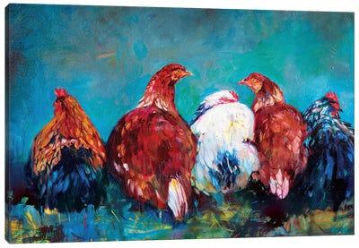 Hen Friends Canvas Art Print
