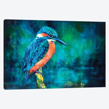 Kingfisher Canvas Print #SGN49} by Sue Gardner Canvas Artwork