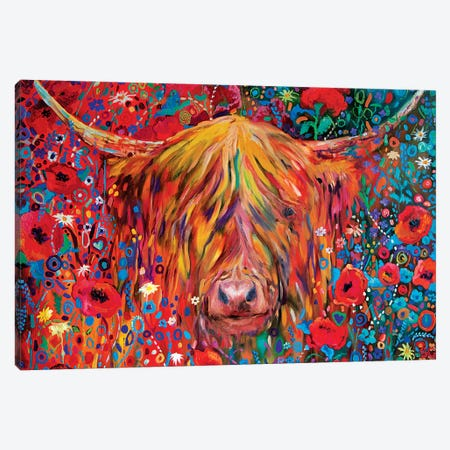 Poppy Cow Canvas Print #SGN4} by Sue Gardner Canvas Artwork